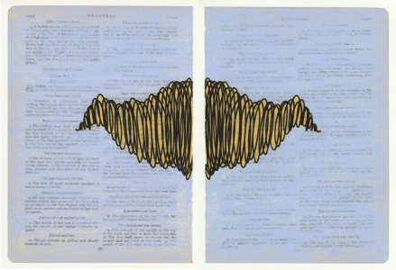 Bible Pages, Proverbs 9:13, Diptych 2012
